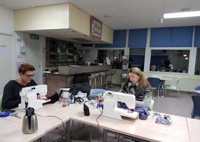 Margo en Bianca aan het werk